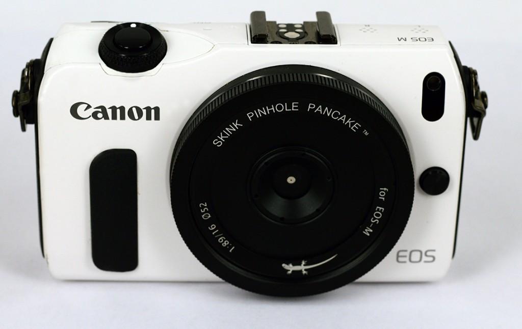 Skink Pinhole Pancake on Canon EOS M camera